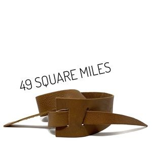 NWT 48 Square Miles Brown Leather Maze Hip Belt